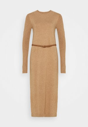 DRESS - Robe pull - camel