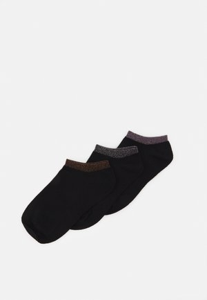 SNEAKER SOCKS 3 PACK - Sokken - black dark