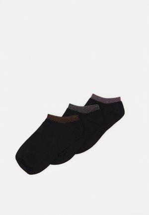 SNEAKER SOCKS 3 PACK - Sokker - black dark