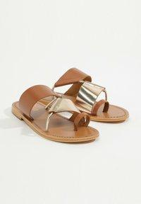 White Sun - COLIN  - T-bar sandals - camel - 1