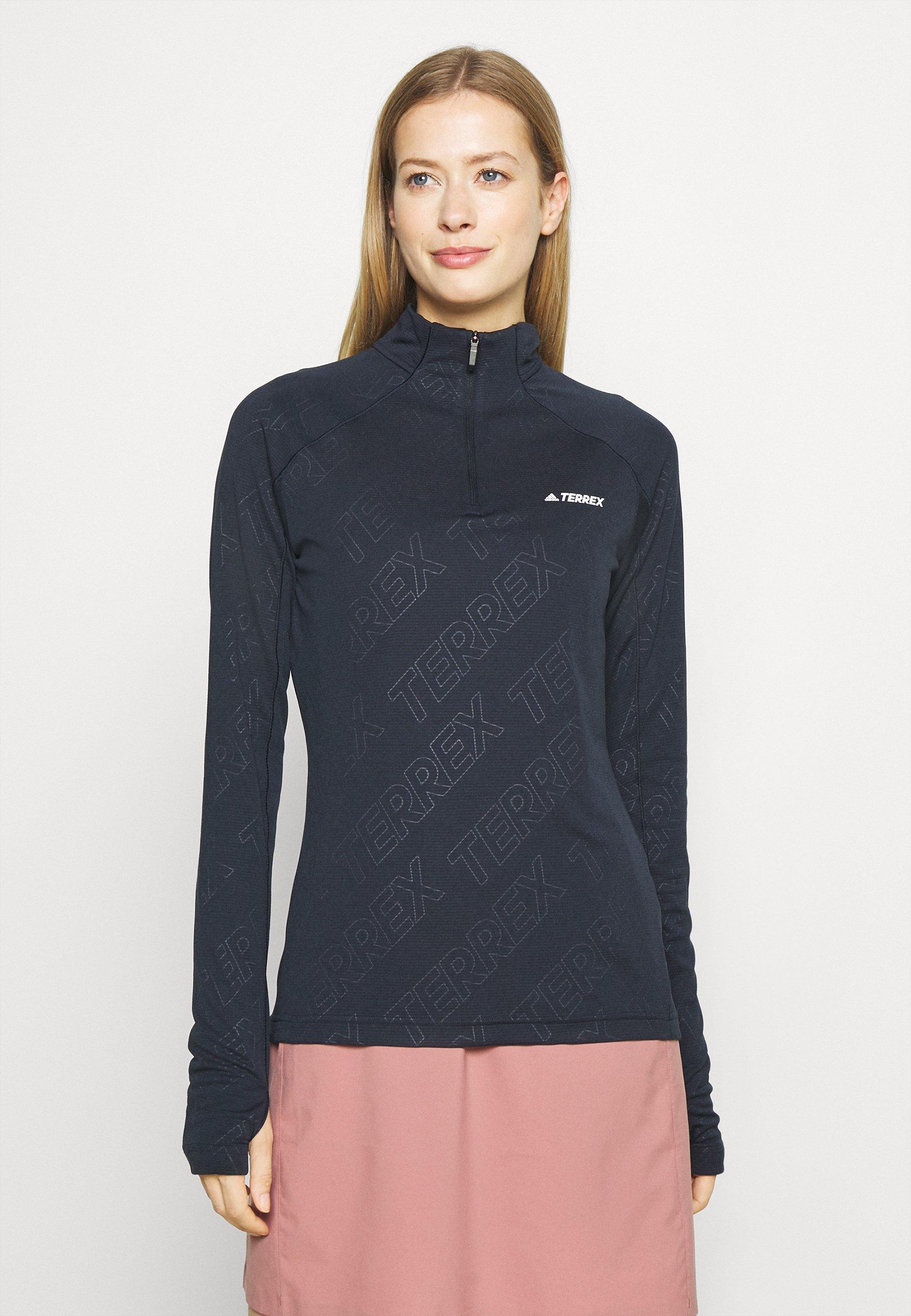 Femme TRACE ROCKER ZIP TECHNICAL AEROREADY - T-shirt à manches longues