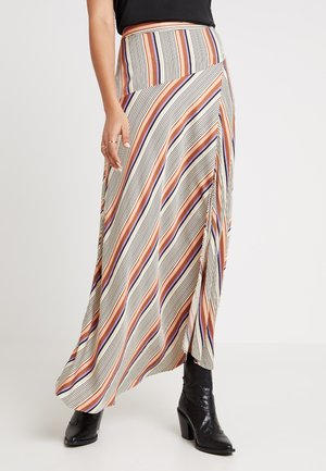 SLOW SKIRT - Maxi skirt - brown partina