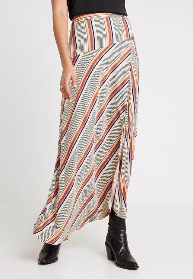 SLOW SKIRT - Falda larga - brown partina