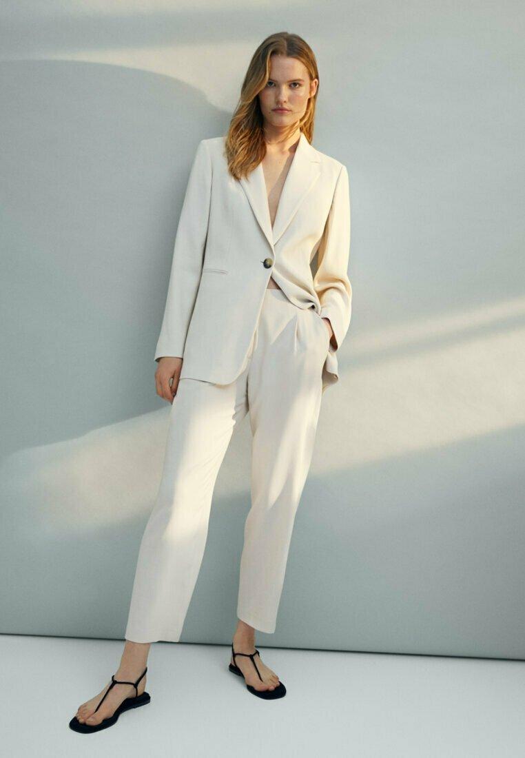 Massimo Dutti - Spodnie materiałowe - beige