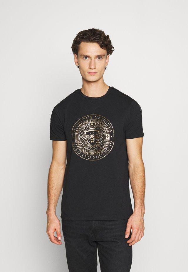 ABILA - T-shirt imprimé - black