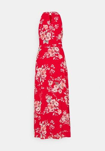 VITAGETES HALTERNECK ANKLE DRESS - Cocktailkjole - mars red