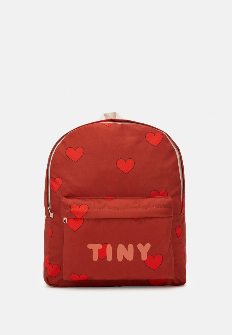 TINYCOTTONS - HEARTS BIG BACKPACK - Zaino - sienna/red
