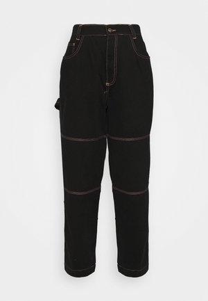 DRILL TROUSER WITH TOPSTITCH - Pantaloni - black
