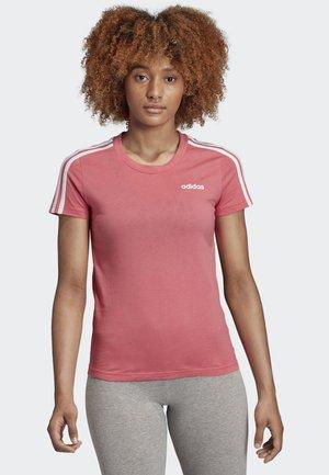 ESSENTIALS 3-STRIPES T-SHIRT - Print T-shirt - pink