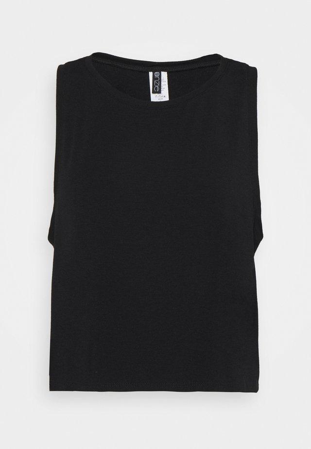 TRI BLEND TANK - Top - black