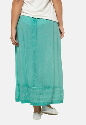 Pleated skirt - mottled turquoise