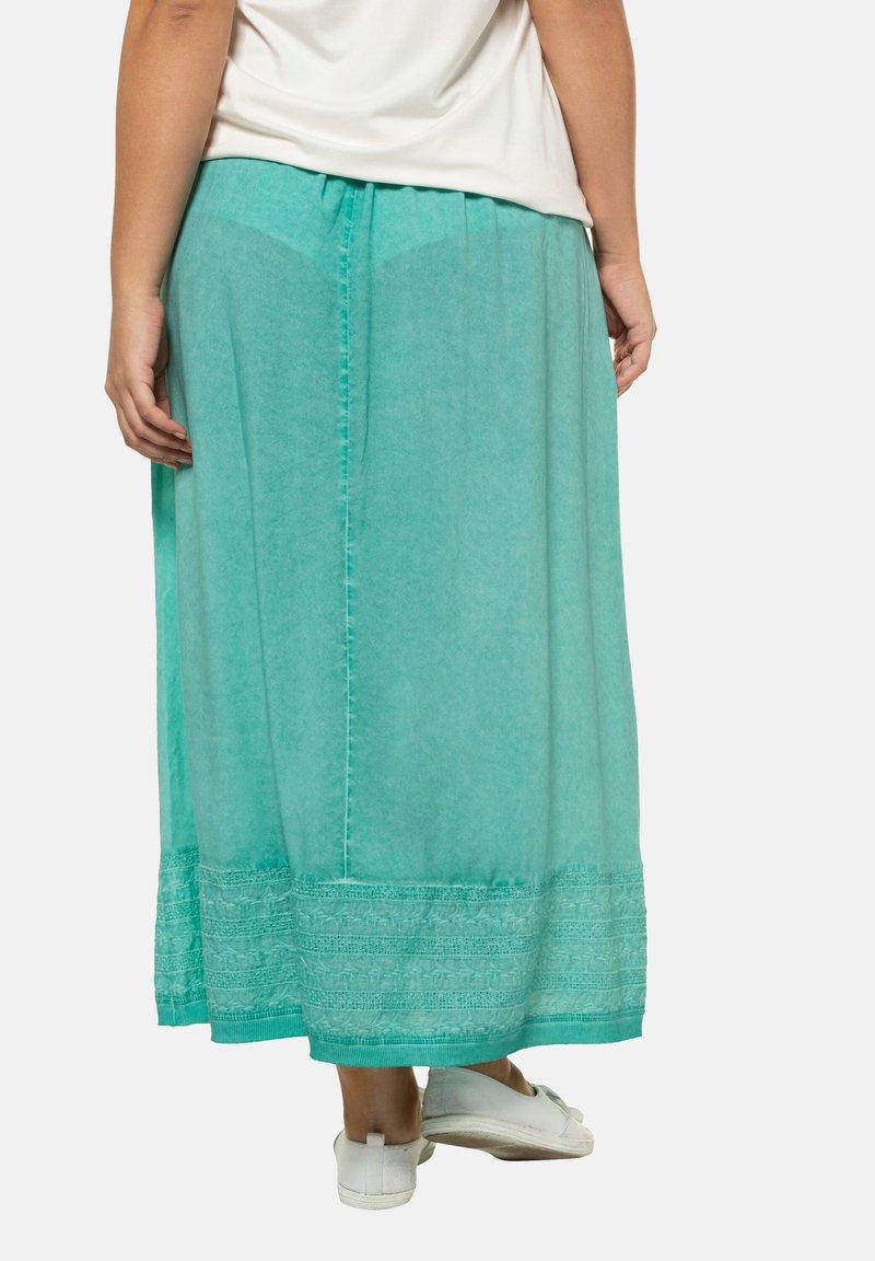 Ulla Popken - Pleated skirt - mottled turquoise