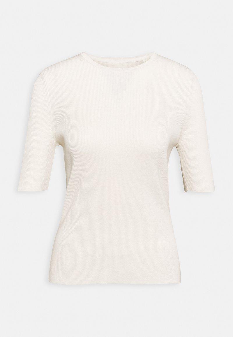 Marc O'Polo - SHORTSLEEVE ROUND NECK - Camiseta estampada - off-white