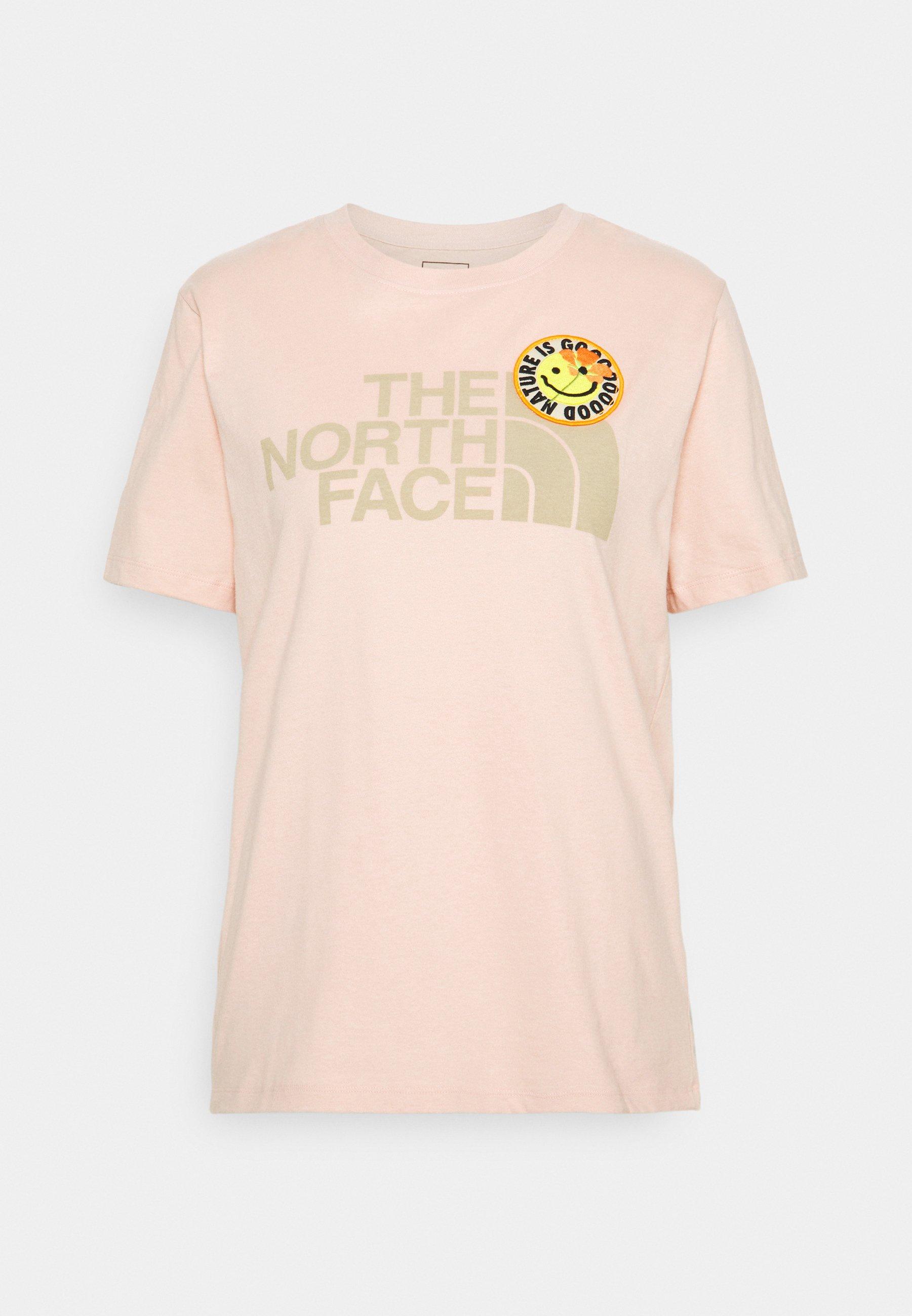 Women PATCHES TEE  - Print T-shirt - evenng sand