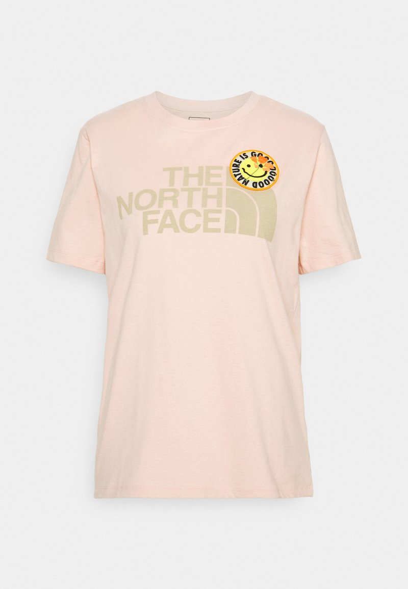 The North Face - PATCHES TEE  - T-shirts med print - evenng sand