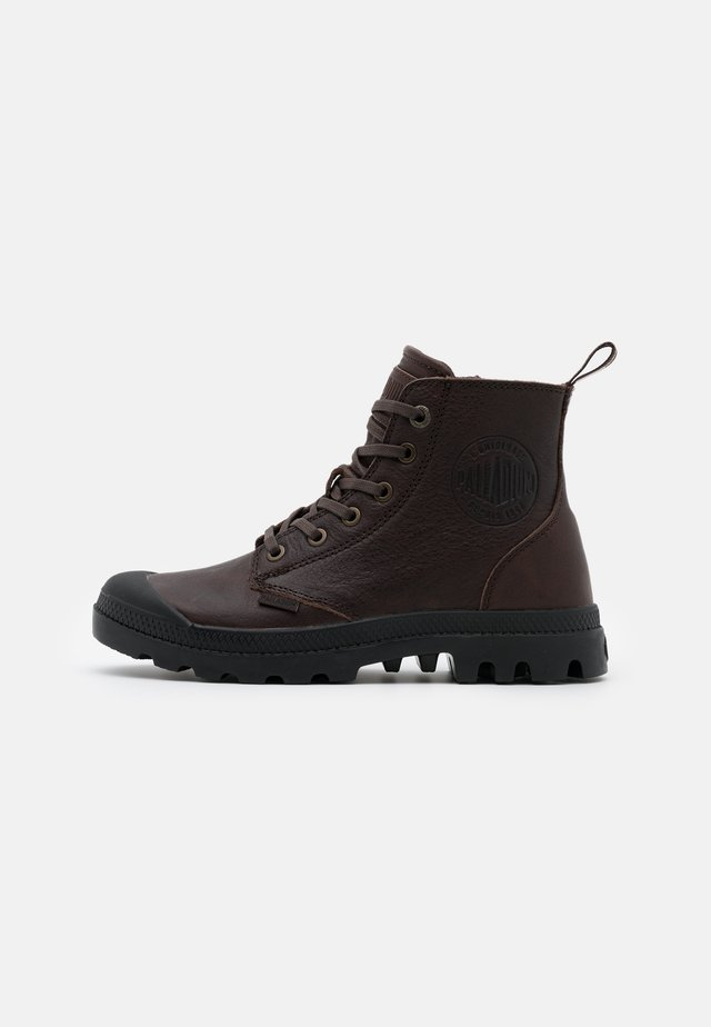 PAMPA ZIP - Lace-up ankle boots - bison