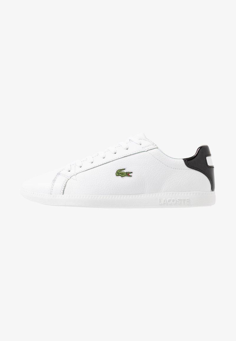 Lacoste - GRADUATE - Sneakersy niskie - white/black