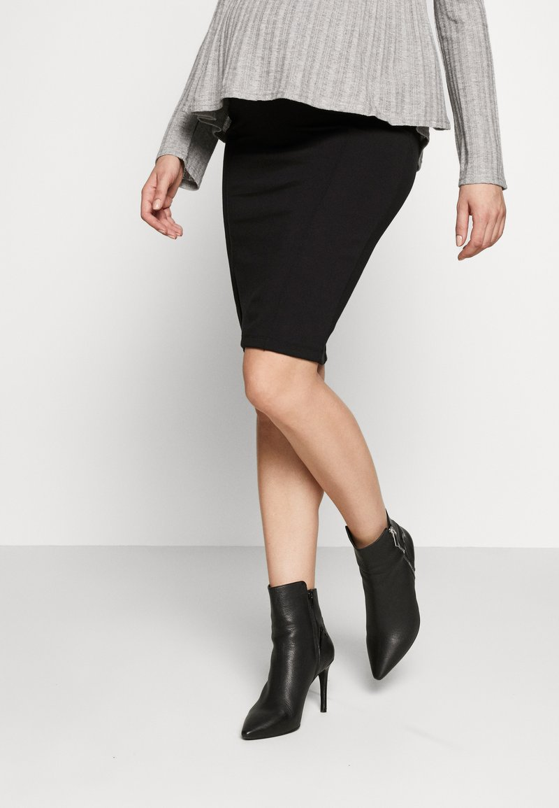 MAMALICIOUS - MLLUNA PINTUC SKIRT - Pencil skirt - black