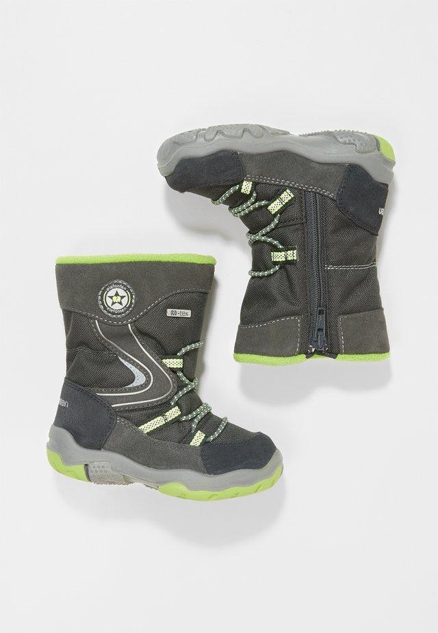 GABRO - Baby shoes - dunkelgrau/grün