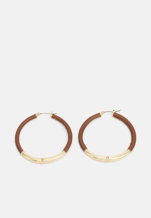 SHAFTSBURY HOOP - Earrings - gold-coloured/tan