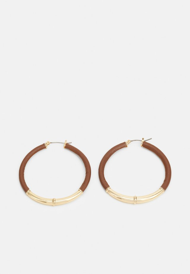 SHAFTSBURY HOOP - Boucles d'oreilles - gold-coloured/tan