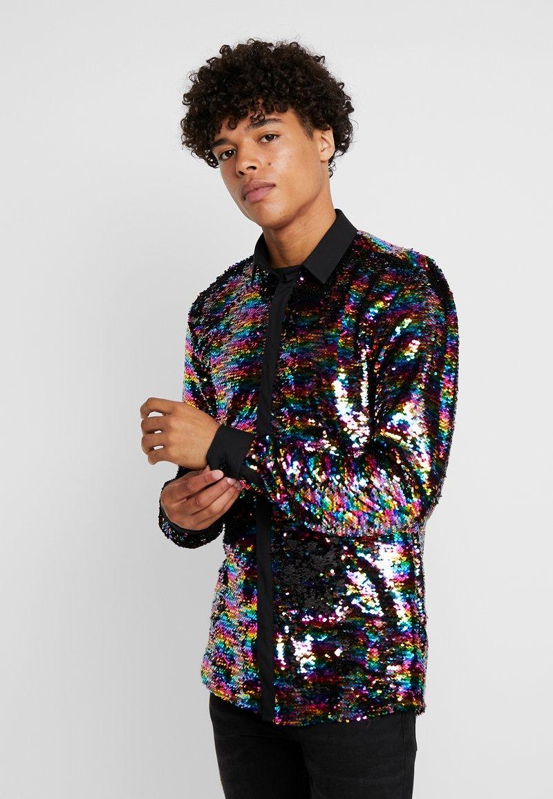 Twisted Tailor - PRIDE LIQUORICE SHIRT EXCLUSIVE - Vapaa-ajan kauluspaita - rainbow