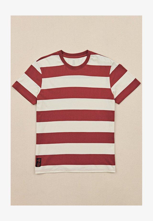 DION AGIUS - T-shirt imprimé - ox blood