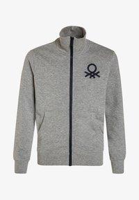 Benetton - Zip-up hoodie - light grey - 0