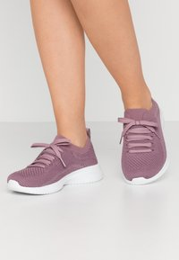 Skechers Wide Fit - WIDE FIT ULTRA FLEX - Slip-ons - purple/white - 0