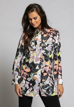 Button-down blouse - black multi