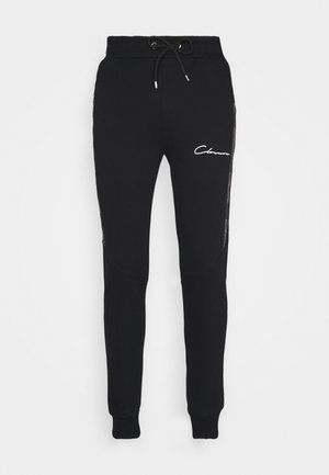 TAPED JOGGER - Spodnie treningowe - black