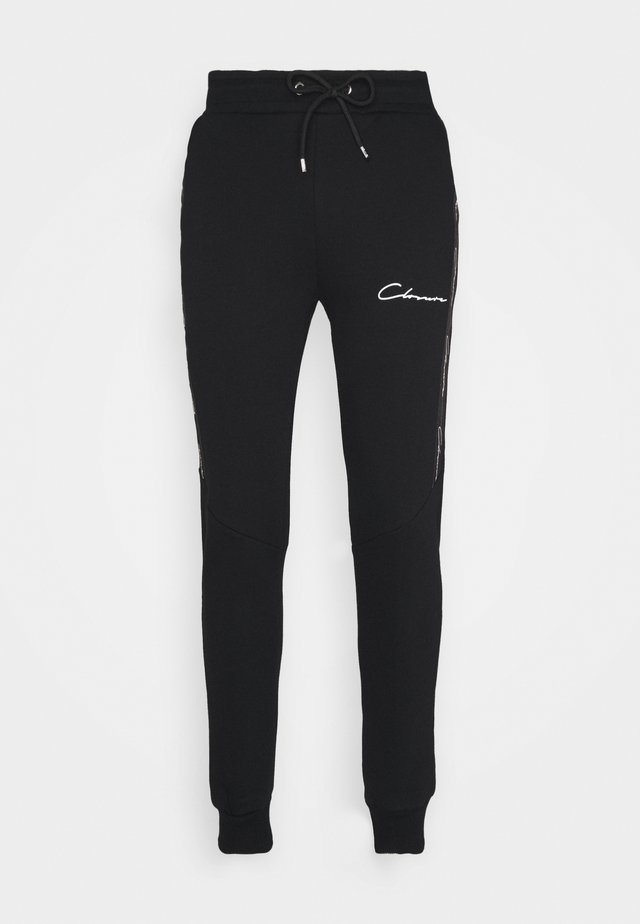 TAPED JOGGER - Tracksuit bottoms - black