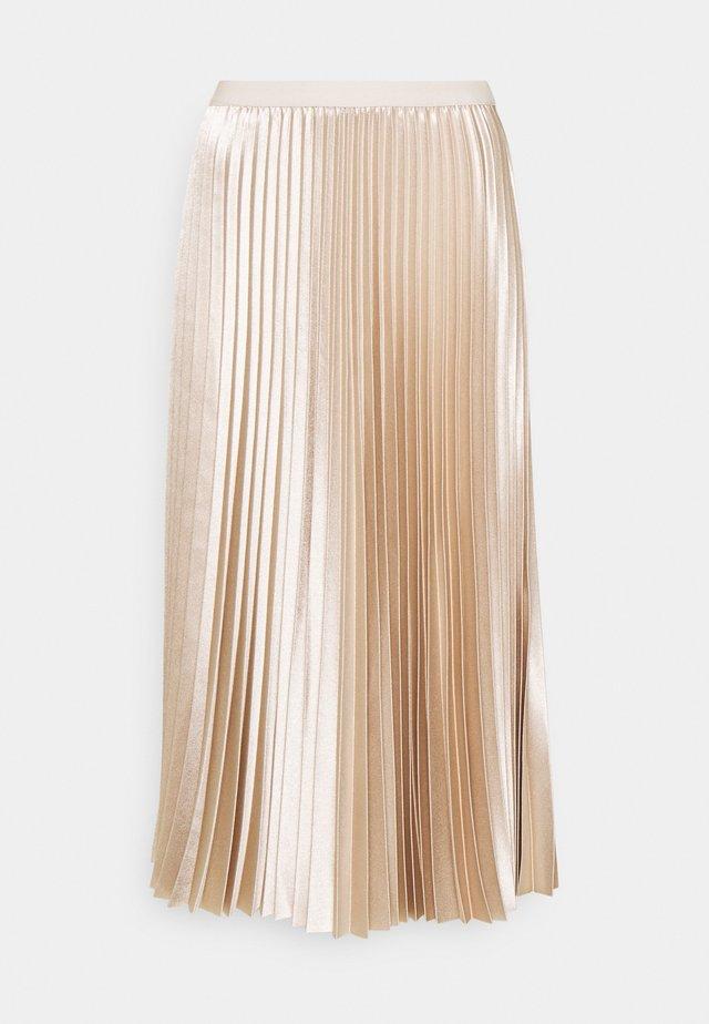 RURY - Veckad kjol - pebble stone
