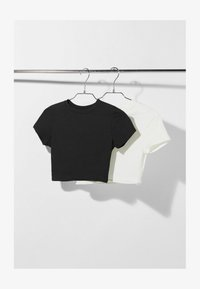 Bershka - 2 Pack  - Basic T-shirt - black - 4