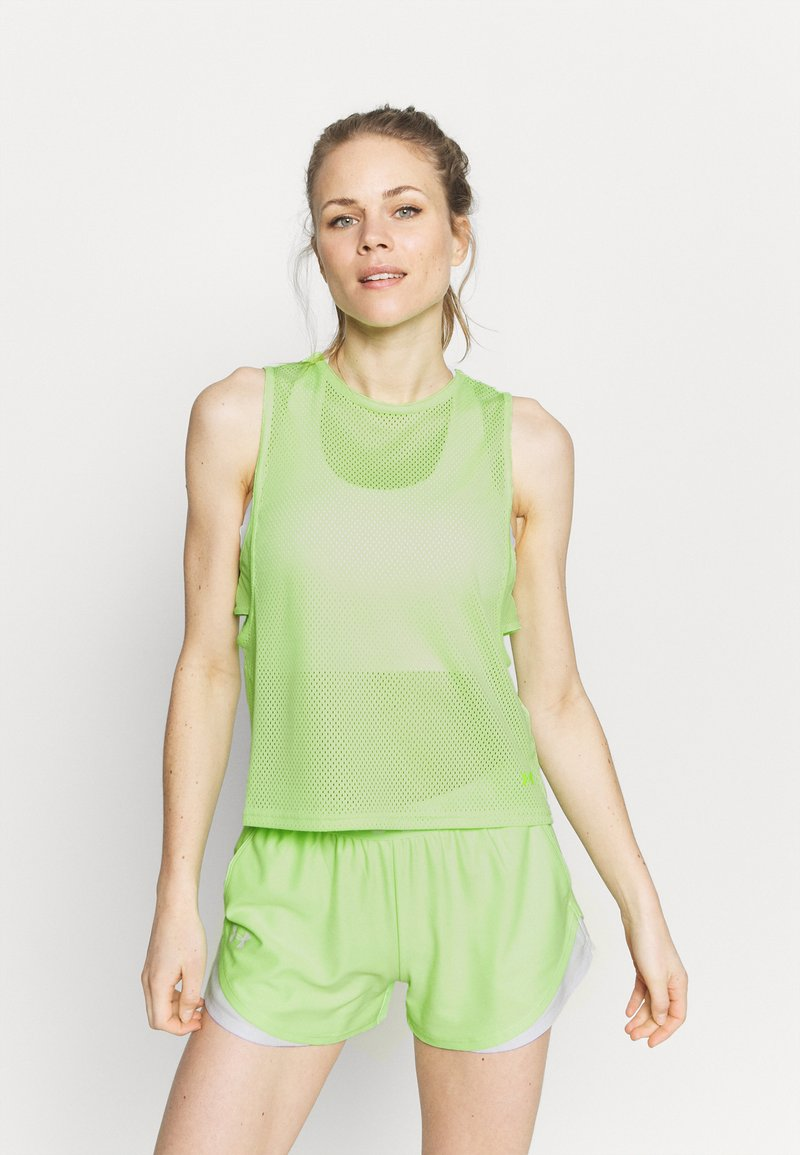 Under Armour - MUSCLE TANK - Sports shirt - summer lime