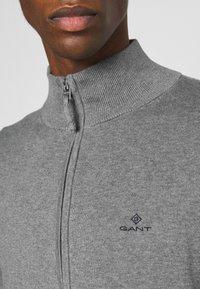 GANT - CLASSIC ZIP CARDIGAN - Cardigan - dark grey melange - 4
