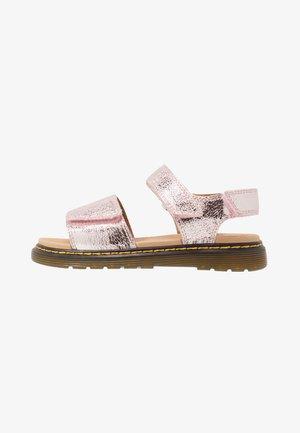 ROMI - Sandals - pink salt crinkle metallic