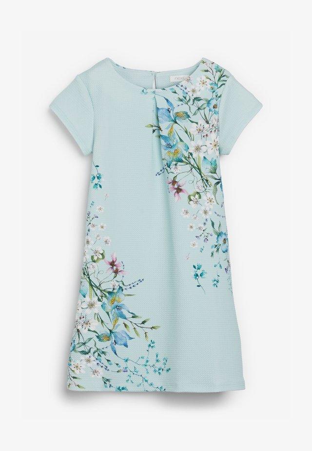 BERRY FLORAL PONTE  - Denní šaty - green