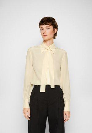 TIE NECK SHIRT - Overhemdblouse - butter yellow