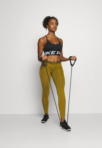 Nike Performance - Leggings - olive flak/olive flak/black - 1