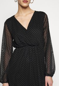Dorothy Perkins Tall - WRAP DOBBY DRESS - Cocktail dress / Party dress - black - 5