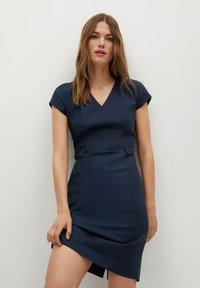 Mango - COFI7-A - Etui-jurk - marineblauw - 0