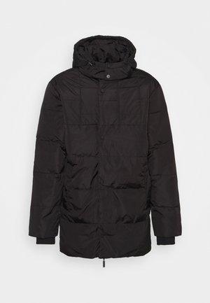 LUCKY FREDDY - Kabát zprachového peří - black