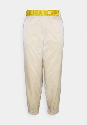 PANT - Tracksuit bottoms - dark citron/white/black