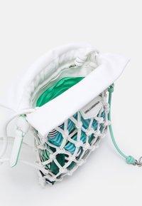 KARL LAGERFELD - KNOTS MINI HOBO - Handbag - off white - 2