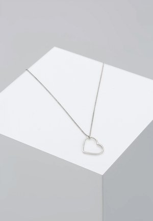 HERZ - Necklace - silver-coloured