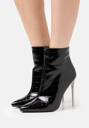 ROLENE - High heeled ankle boots - black