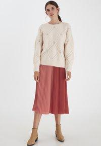 ICHI - A-line skirt - dusty cedar - 1