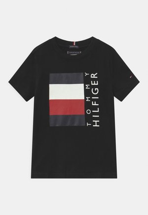 GLOBAL STRIPE  - T-shirt z nadrukiem - black