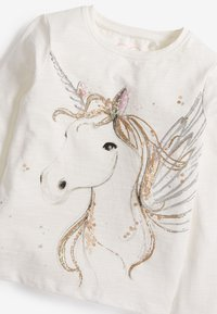 Next - SEQUIN UNICORN - Long sleeved top - white - 1